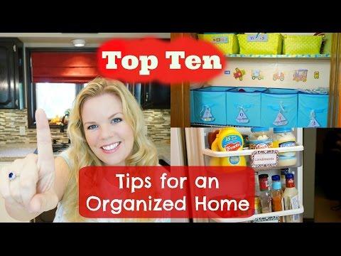Top Ten Tips for an Organized Home