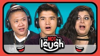 Try To Watch This Without Laughing or Grinning #10 (ft. YouTubers) (REACT)