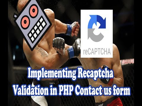 Implementing reCAPTCHA Validation in PHP Contact us form