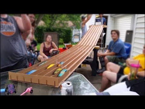 Cardboard Pinewood Derby Track Under $20 Instructions