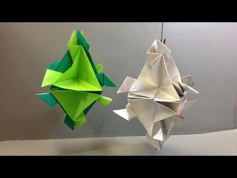 Easy Origami Modular Christmas Ornament