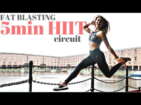 INTENSE 5min HIIT CIRCUIT    BLAST FAT!!