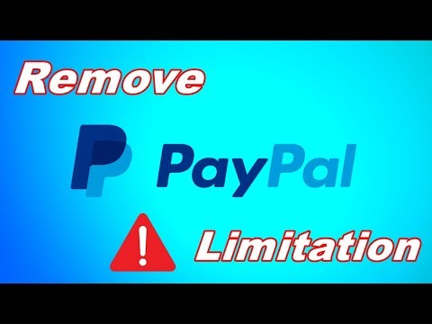 How to remove PayPal limitation quickly 2018