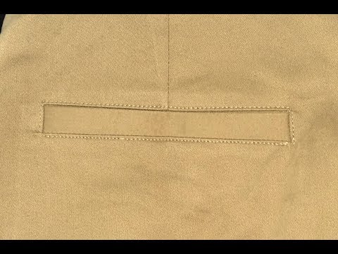How to sew single welt pant pocket