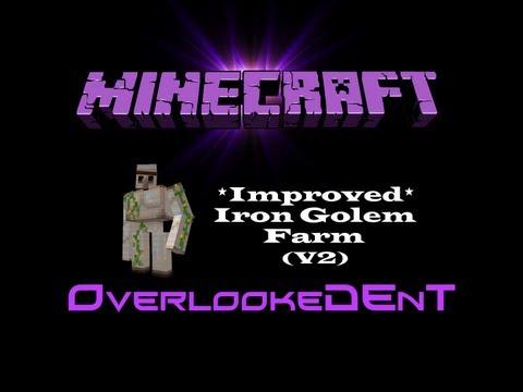 *Improved* - Iron Golem Farm (v2) - Minecraft Xbox 360/PS3 - [Tutorial]