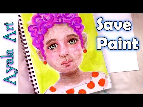 ❤️ What to do with leftover acrylic paint Art Journal