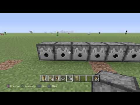 Minecraft PS4 - HOW TO MAKE A MACHINE GUN! (Sorta)