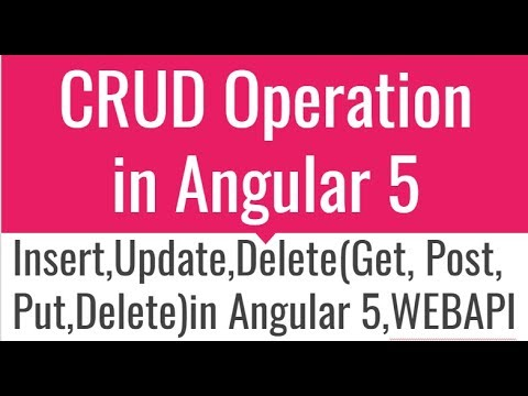 CRUD Operations in Angular 5 with restful service