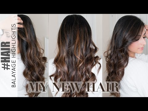 Balayage Highlights on Dark Hair: My New Hair Colour 2016 | Ysis Lorenna