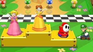 Mario Party 9 Garden Battle - Peach vs Luigi vs Daisy vs Shy Guy| Cartoons Mee