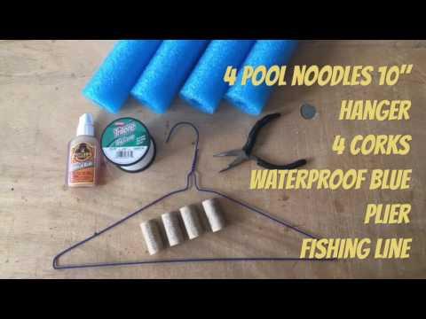 Make Fishing pool noodles foam Cajun Catfish Jugs