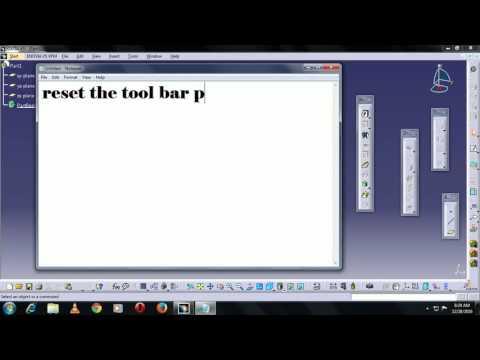 Reset Catia v5  and catia v5 toolbar position.