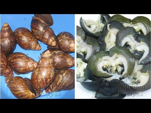 How to Clean Snail (Remove Snail Slime) | All Nigerian Recipes