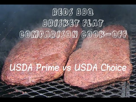 USDA Prime vs USDA Choice (Brisket) on my Yoder