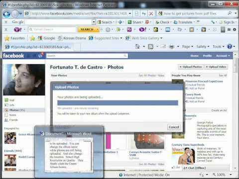 How to create an album for invitation in facebook PART 1
