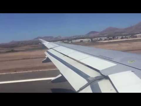Monarch take off from Lanzarote destination Manchester UK June 2016.