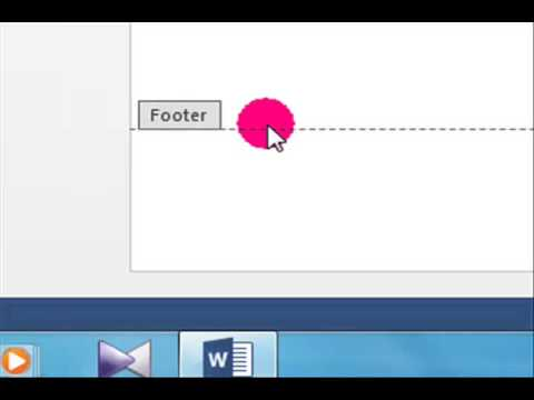 MS Word 2013 (Header Footer &  Page number Tutorial ) in Hindi