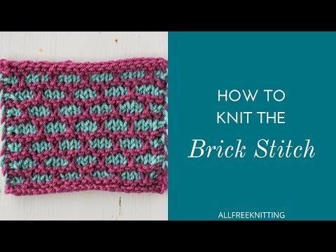 How to Knit the Brick Stitch