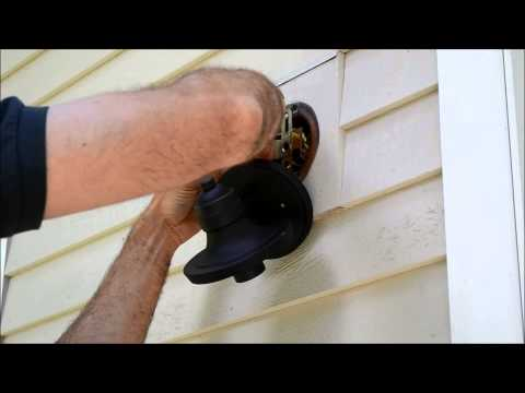 How to Install Exterior Light Fixture Video