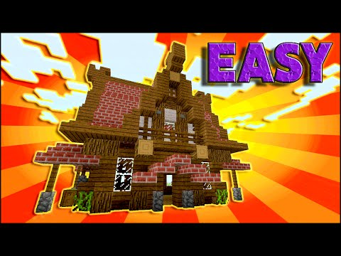 Minecraft: How To Build A Medieval House Tutorial | Small Medieval house Tutorial (Survival) 2016