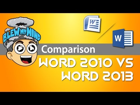 Microsoft Word 2010 vs Microsoft Word 2013