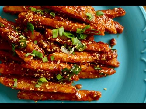 Honey Chilli Potato Recipe | Homemade Crispy Honey Chilli Potato