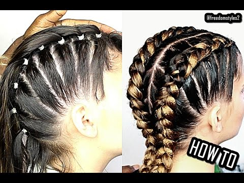 HOW TO DO CORNROWS 4 BEGINNERS