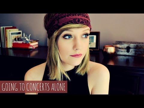 GOING TO CONCERTS ALONE