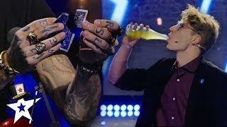 Magician Cheers To The Judges Impressing Them With His Magic | Magicians Got Talent