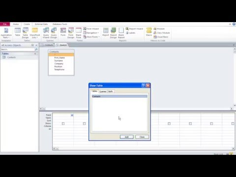 Databases with Microsoft Access 2 –Database Overview + Building Table, Queries, Forms & Report