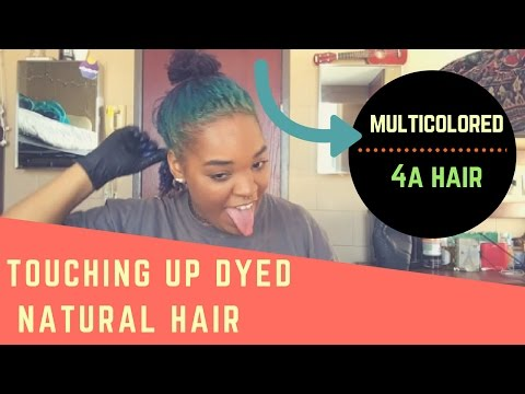 Dying My Natural Hair | From Green to Blue!