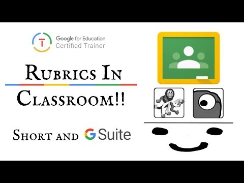 Using rubrics to grade within Google Classroom explained in 2 minutes!