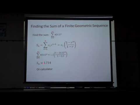Geo Seq Sum finite series with calculator
