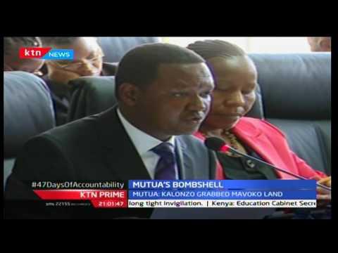 KTN Prime: Machakos Governor Alfred Mutua drops Wiper leader Kalonzo's illegal land deal in Mavoko