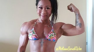 Melissa Sarah Wee 💪 Big biceps 💪 Asian Female Muscle