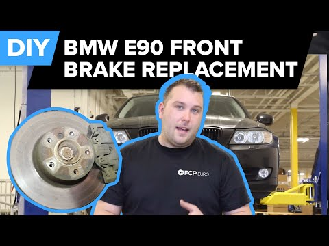 BMW E90 Front Brake Replacement (328i Pads, Rotors & Sensors) FCP Euro