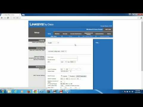 tutorial Konfigurasi Wireless Router Linksys WRT120n
