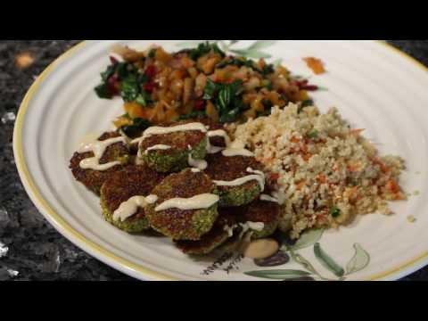Falafel with Quinoa and Swiss Chard - Green Door Gourmet