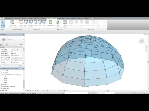 Autodesk Revit 2017 - How to Create a Glass Dome Roof