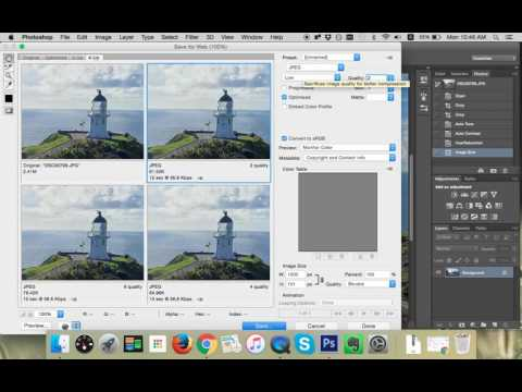 How to save images for web using Photoshop