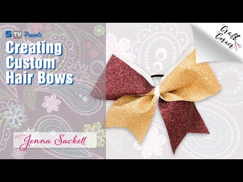 Creating Custom Hair Bows with Silhouette Cameo | Craft Corner