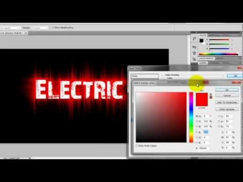 How to make Electric Text in Photoshop CS5