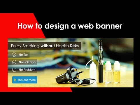 How to create web banner design in Photoshop CS6
