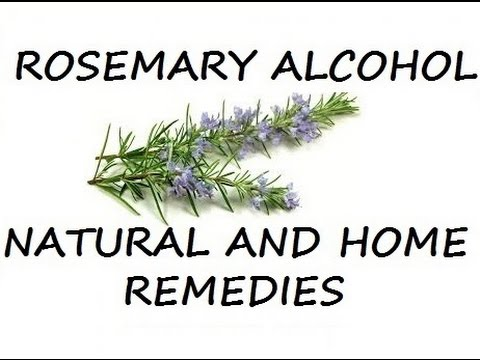 How to make Rosemary Alcohol, Natural and Home Remedy.