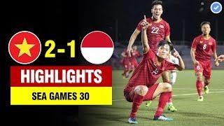 Highlights Việt Nam 2-1 Indonesia | Hoàng Đức lập siêu phẩm rung chuyển ĐNÁ - U22 VN đại thắng