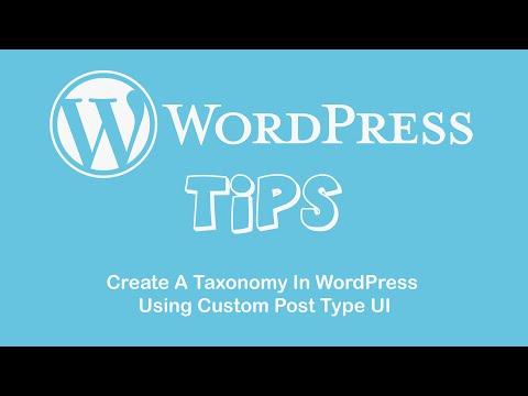 Create A Taxonomy In WordPress Using Custom Post Type UI