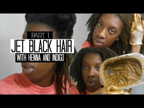 Jet Black Hair with Henna and Indigo | Part 1