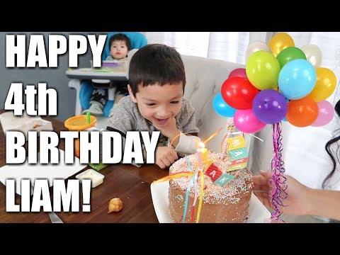 HAPPY 4th BIRTHDAY LIAM!
