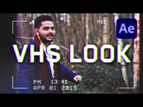 How To Create The Old VHS Video Look Overlay - After Effects Tutorial