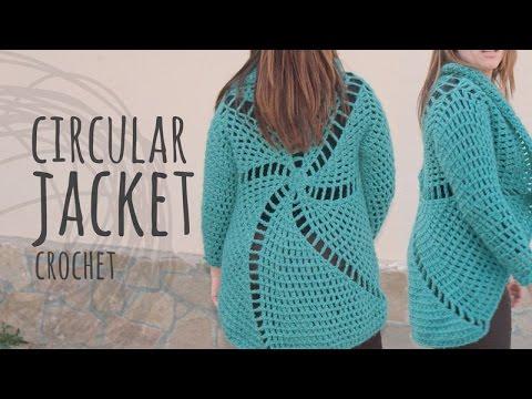 Tutorial Crochet Circular Jacket | All Sizes!